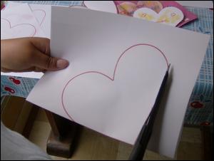Dessin de coeur carte f te des m res p res fabriquer - Carte saint valentin a fabriquer ...