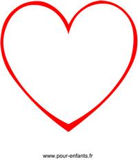 Dessin en forme de coeur à imprimer