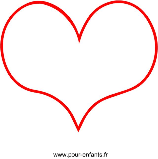 Dessin coeur : Dessin de coeur simple