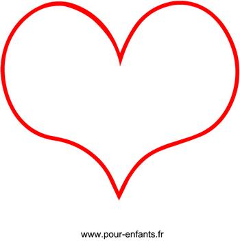 Dessin coeur en forme de coeur rose - Coeur en dessin ...