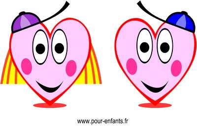 Pin en forme de coeur dessin coloriage imprimer on pinterest - Dessin en forme de coeur ...