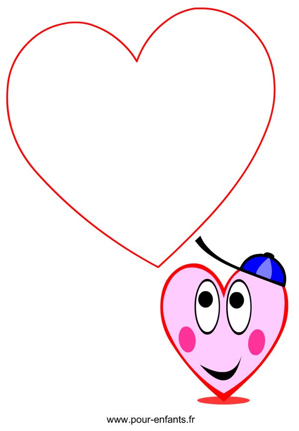 Papier lettre imprimer dessin de coeur d amour papiers lettres imprimable gratuit - Dessin en forme de coeur ...