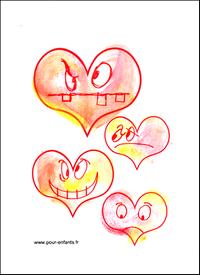 de coeur dessins en forme de coeurs coloriages carte fete images ...