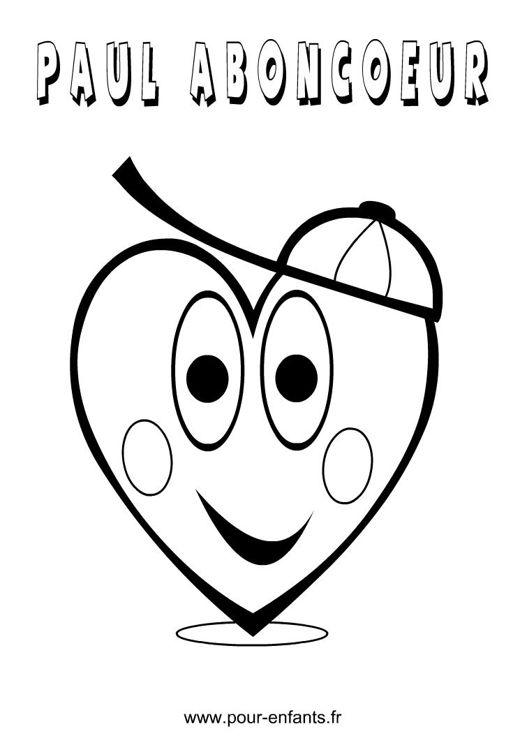 Dessin de coeur imprimer coloriage forme coeurs pour colorier coloriages pour enfants paul - Image de coeur a colorier ...