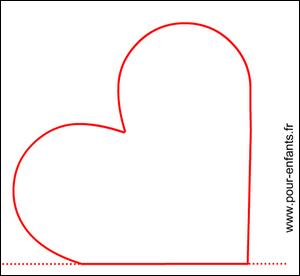 Dessin de coeur dessins en forme de coeurs coloriages carte fete images papier lettre mod les - Modele de coeur a decouper ...